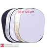 wholesales New 5 in 1 Light Mulit Collapsible Disk Style Reflector 90cm*120cm  with tracking number