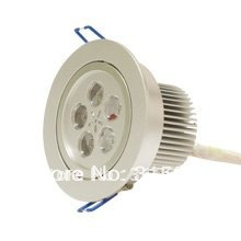5W Led Ceiling Light 500-550LM Aluminum AC85~265V Silver Color Free Shipping(Hong Kong)