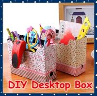 [FORREST SHOP] Kawaii School Stationery Cute DIY Desk Organizer Box / Paper Desktop Storage Box / Office Pen Holder FRS-26