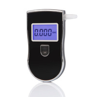 CN Free Shipping Alcohol Breath Analyzer Tester Breathalyzer with 3 digital LCD display & blue backlight & 5pcs Mouthpieces