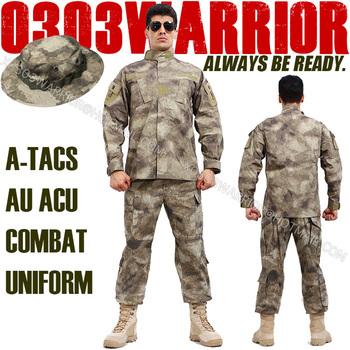 A-TACS Camouflage suit sets BDU Military Combat Uniform Garment sets Jacket + Pants Free Shipping UNIFORM-002