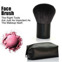 Wholesale Natural Animal Black Soft Hair Makeup Tool Blush With Leather Bag,Face Power Brush #182,TOP Quality