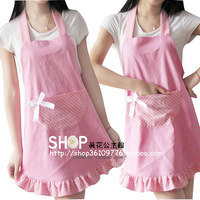 Free shipping Apron Korean version of the fashionable clothing princess Lace lovely thick canva,kitchen apron