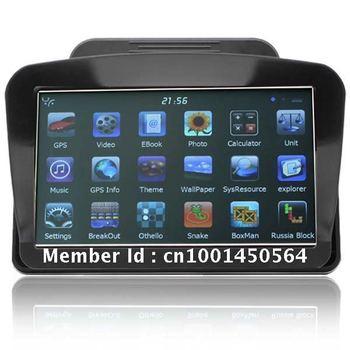 "New 7"" HD YFMStar 128M DDRII 4GB Internal Storage GPS Navigation+Sun Shade"