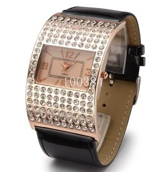 2013 New style.Wholesale crystal Quartz  Arch bridge watch woman watch-black