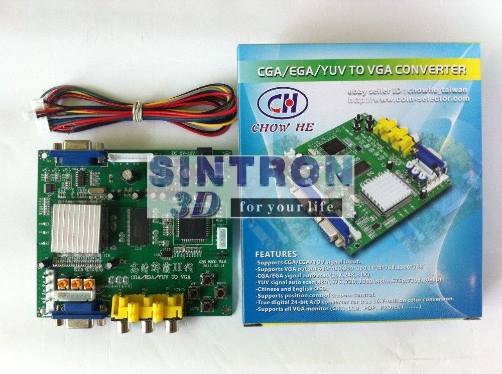 GBS-8200 Video Converter CGA/EGA/YUV/RGB TO VGA Arcade Jamma Game Monitor to LCD(China (Mainland))