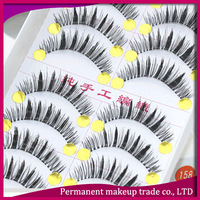 In central Taiwan pure manual transparent false eyelash terrier 158 bold Natural naked makeup eye end extended -free shiping