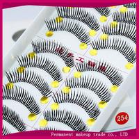 Handmade knitted makeup  false eyelashes Natural roll become warped eyelash  254 10 pairs/ set-free shiping