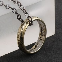 The Lord of the Rings Necklaces & Pendants Antique Bronze Chain Jewelry Gothic & Punk Jewelry Wholesale Free Shipping Dark Dream
