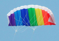 Free shipping 2.7m polyester parafoil power kite