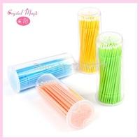4 colors eyelash extension Microfiber wands makeup cotton tips