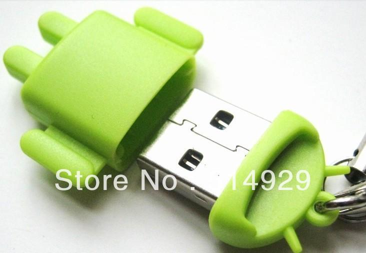 Fashion USB Card Reader Android Robot Doll Mobile Phone Pendant 50pcs/lot Micro SD Card Reader Colorful(China (Mainland))