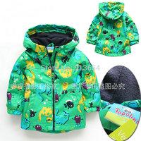 new 2014 baby clothing spring autumn kids jackets child windproof outerwear baby boys dinosaur cardigan coat