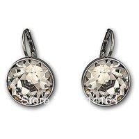 Wholesale Austrian Crystal Bella Black Pierced Earrings Free Shipping
