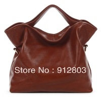 [ANYTIME] Factory Wholesale - First Layer Cowhide Women's Handbag Black Red Genuine Leather Female Totes Messenger Shoulder Bag