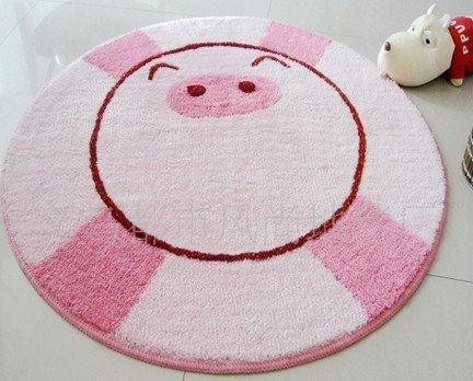 2012 Hot Sale Fashion cartoon mats tarpet/ Rug/Kitty Mats diameter 80cm Free shipping(China (Mainland))