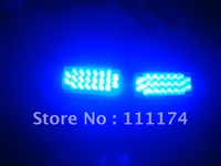 Blue 2 x 22 LED Flash Emergency Strobe Car Grill Light