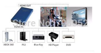 2D to 3D converter 1080p HDMI Home Audio Signal Video Converter Box with Remote Free Shipping