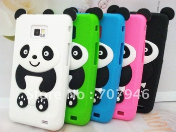 3D Panda Animal Silicone Soft Skin Case Cover For Samsung Galaxy S2