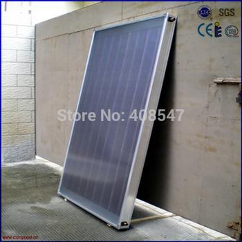 flat roof blue titanium flat panel solar collector