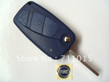 Fiat 3 button flip remote key blank key shell case only no chip no remote inside with free shipping by Hongkong Post Airmail
