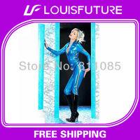 Blue PVC Sexy Lingerie PVC Lingerie Spanking PV0022
