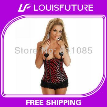 body shape corset sexy lingerie lycra corset+g-string 1 set&shapewear corset body CS0045