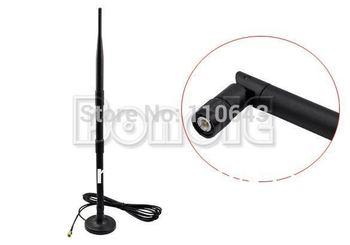 New 9 dBi 2.4 GHz 802.11b/g Omni Wireless WiFi Antenna RP-SMA Magnet Black Free Shipping 1255 B002