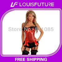 plus size lingerie corsets sexy lingerie bamboo slimming suit corset+g-string 1 set&gothic corset plus CS0106