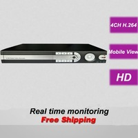 Free shipping 4 CH channel CCTV DVR HDMI digital video recorder security surveillance real time monitoring camera system install