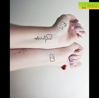 Sweet heartbeat Temporary tattoo Waterproof body tattoo stickers body art painting #TA119