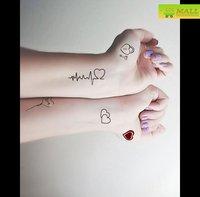 Sweet heartbeat Temporary tattoo Waterproof body tattoo stickers body art painting #TA119