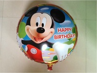 "18"" Cartoon Helium balloons Kids birthday party supplies Gifts for children ""happy birthday"" 10pcs/lot"