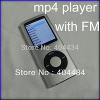 slim portable mp4 players 16gb internal memory  4th gen  MP3 MP4 Player 1.8'' tft screen  FM radio 2pcs/lot free shipping