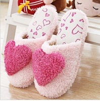 Free Shipping! New warm winter super soft outsole slippers lovlu women home floor slippers