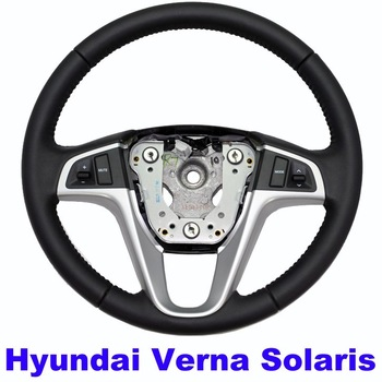 Hyundai Verna Solaris Original Steering wheel with control buttons Real Leather