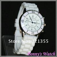 Original Brand Doukou 2012 new Dress Clock fashion white Watch for women / girls, 68 Movt Quartz Watches=Free Shipping!