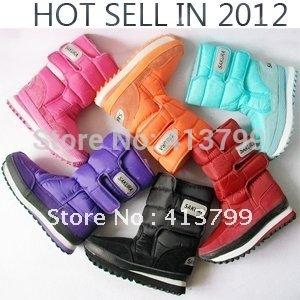 winter new genuine high boot fashion waterproof SAKURA cherry 6 color snow boots