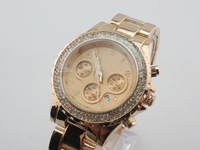 Loss Promotion 2013 New Brand Watch With Calendar Stainless Steel Belt With Diamond Women's Watch Gift Free Shipping