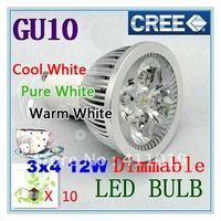 High quality~High power CREE led lamp 4x3W 12W GU10/E27/MR16 Dimmable 110-240V Led Lights Led Spotlight Bulbs Downlight 10pcs