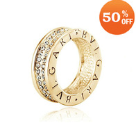 sale 18k gold plated austrian crystal rhinestone ring fashion wedding ring crystal jewelry for men women  Bn2551