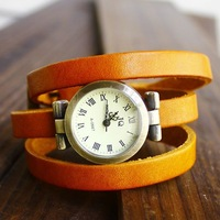 Sales promotion Women Wholesale fashion Genuine Cow leather band quartz watch,Vintage wrist watches Ladies  GLW6