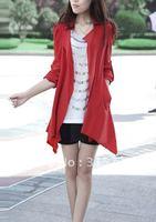 2012 autumn and winter new hot korean women's jacket,plus size irregular puff long coat  N-007