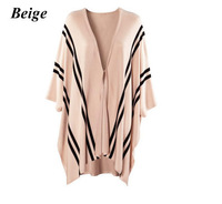 Fashion women Knit Sweater Shawl Cloak Poncho Vest lady cape cashmere blends girl leisure jacket wool coat