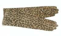 40cm long genuine leather leopard print gloves S/M/L/XL free shipping gift