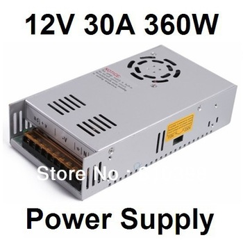 110V/200V~240V To 12V 30A 360W Led Switching Power Supply AC DC Power Adapter Freeshipping#PA009