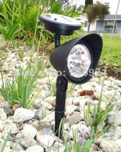 3 led solar strahler für Gartenanlage solar rasen licht lampe flutlicht, 2pcs/lot