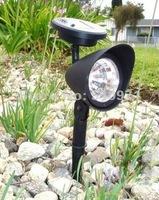 3 LED solar spotlight for outdoor garden solar lawn light lamp flood light, 2pcs/lot
