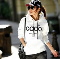 Free Shipping Fashion Sports Suit  Women Hoodies Sweatshirts Tops Outwear With Hat M/L/XL/XXL Sport Suit Women Brand