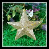 Free shipping New 4PCS/Lot 12CM Christmas star tree decorations is hanged adorn toys For party household wedding